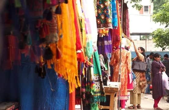 Street shopping in Lajpat Nagar Market