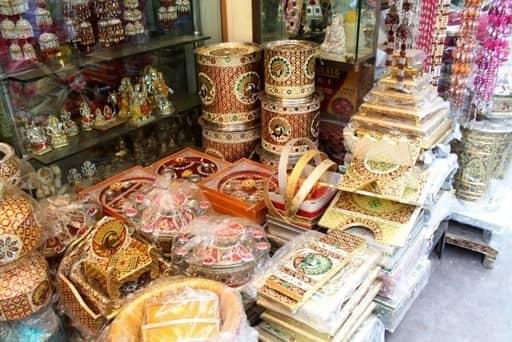 Bridal shopping in Delhi Chandni Chowk Market