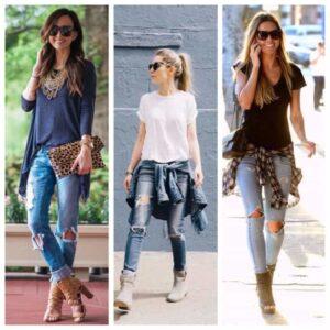 Disstressed Jeans